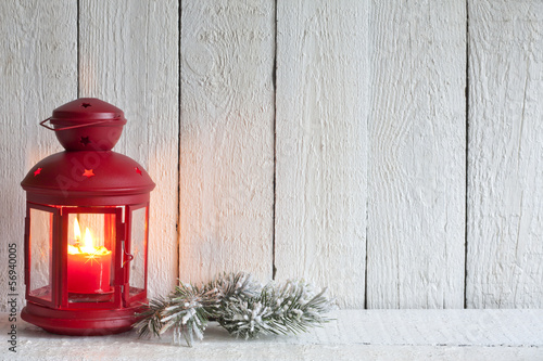 Christmas lantern abstract background on white boards