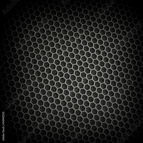 Black iron speaker grid texture. Industrial background