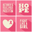 Breast Cancer Awareness Cards Collection