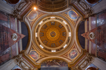 view of chapel at Santa Maria del Popolo church. Rome. Italy.