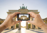 taking a picture a brandenburg gate
