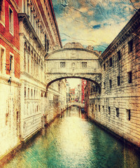 bridge of sighs (ponte dei sospiri). Venice. Italy.