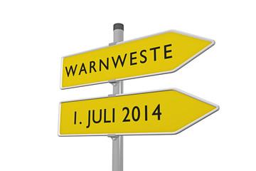 Warnweste 1. Juli 2014