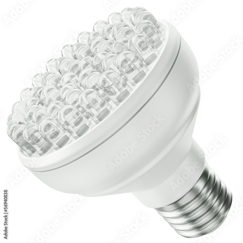 LED bulb, 3D rendered illustration