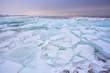 broken pieces of shelf ice on Ijsselmeer, Netherlands