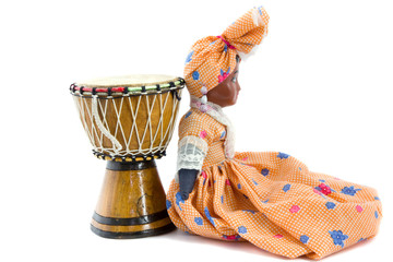 African drum and African doll