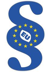 Paragraphenzeichen mit EU-Logo