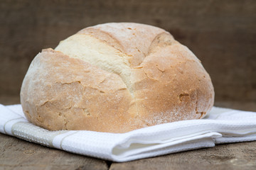 Freshly baked French pain de campagne loaf of bread