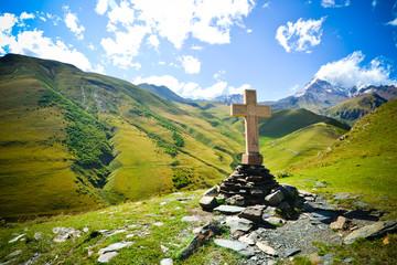 Cross at Mount Kazbek