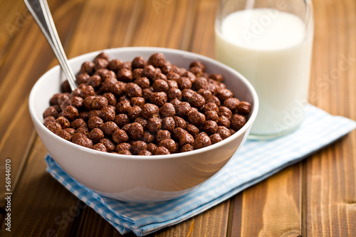 chocolate cereals in bowl