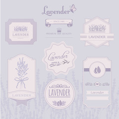 Lavender background, product label packaging design