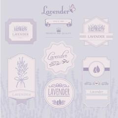 Lavender background, product label packaging design