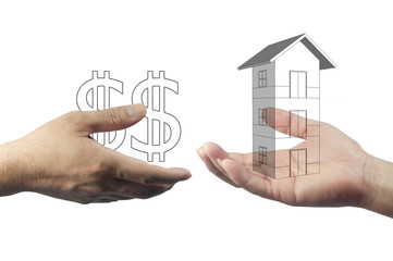 deal property on hand concept