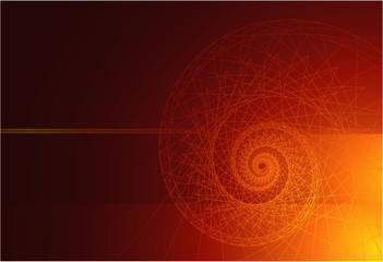 Vector vortex background. Flames.