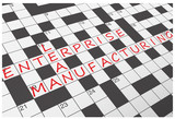 LEAN ENTERPRISE MANUFACTURING Crossword (continuous improvement)
