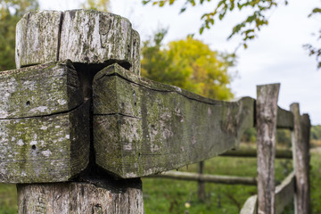 old Rustic wood fence