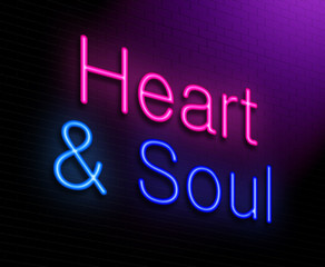 Heart and soul concept.