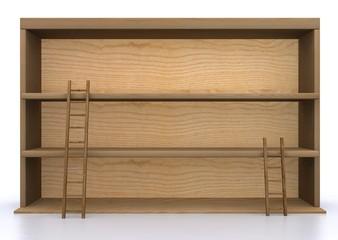 Bacheca in legno con scale