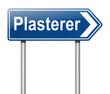 Plasterer concept.