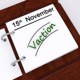 Vacation Planner Shows Holiday Booked Or Leave Planned