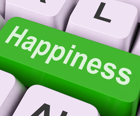 Happiness Key Means Delight Or Joy.