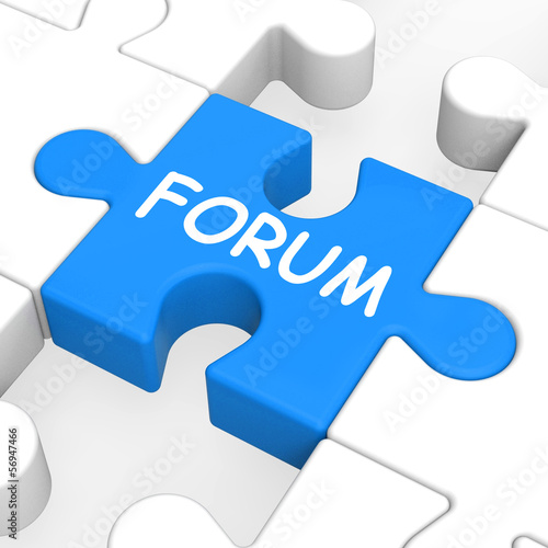 Forum Puzzle Shows Online Community Chat And Advice