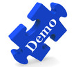 Demo Puzzle Shows Product Demonstration Trial Or Version