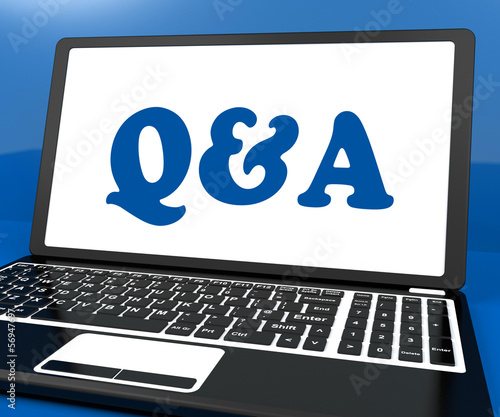 Q&a On Monitor Shows Question And Answer Online