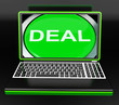 Deal Laptop Shows Online Trade Contract Or Dealing