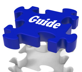Guide Puzzle Shows Expertise Consulting Instructions Guideline A