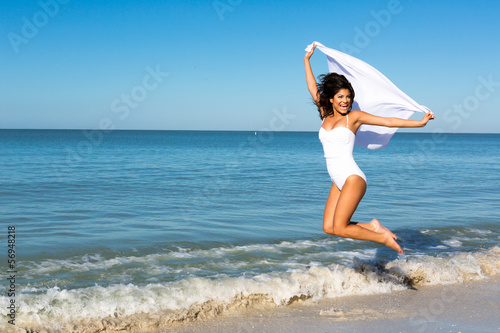 canvas print picture woman jumping