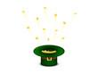 Hut grün mit Gold Münzen fliegend