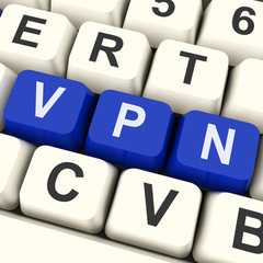 VPN Key Shows Virtual Or Remote Private Network.