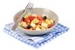 Salade composée dans une assiette
