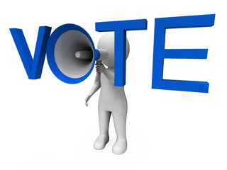 Vote Hailer Shows Voting Poll And Polling