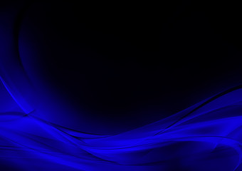 Abstract luminous blue and black background
