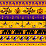 Halloween background with bat, pumpkin, ghost.