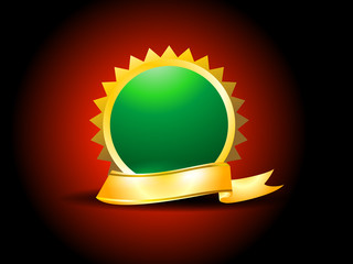 Gold Ribbon With Circle
