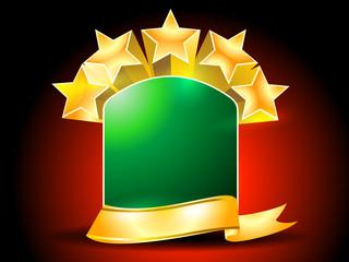 Golden Riibon with Star