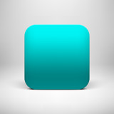 Technology Cyan Blank App Icon Template