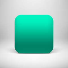 Technology Green Blank App Icon Template