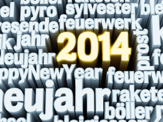2014 wordcloud 3D
