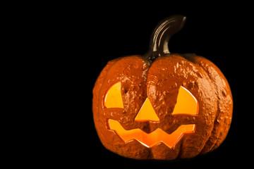 Halloween pumpkin on a black background