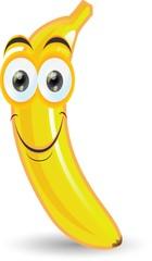 Наклейка мультфильма банан