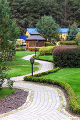Beautiful park garden