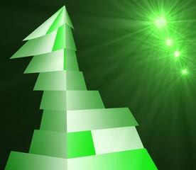 torre verde con luci verdi