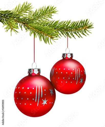 zwei rote weihnachtskugeln stockfotos und lizenzfreie. Black Bedroom Furniture Sets. Home Design Ideas