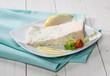 Fetta di gorgonzola, formaggio italiano