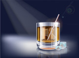 Vector whisky glass