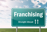 "Highway Signpost ""Franchising"""
